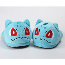 Easter Sale Women Men Cartoon Shoes Winter Thick Stuffed Plush Indoor Home Slippers Pokemon Pikachu Squirtle