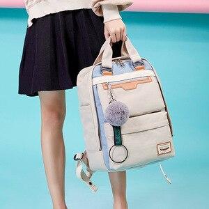 Image 2 - Студенческие рюкзаки для девушек, водонепроницаемый нейлоновый детский рюкзак для студентов средней школы, дорожные рюкзаки, детские школьные сумки, женские сумки