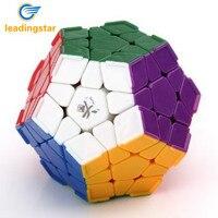 LeadingStar DaYan Megaminx con Creste Stickerless Velocità Cubo Magico di Colore Bianco Grande Giocattolo Educativo Per I Bambini zk35