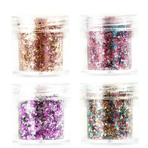Image 2 - 4 boxes/Set Chunky Nail Glitter Powder 23 Colors Mix Hexagon Glitter Dust Sequins Sparkling Chunky For Body Face Tattoo 10ml/box