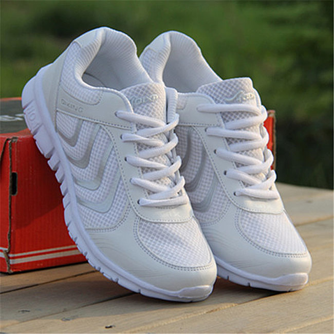 Women shoes white shoes 2017 New Arrivals fashion Breathable mesh casual shoes woman