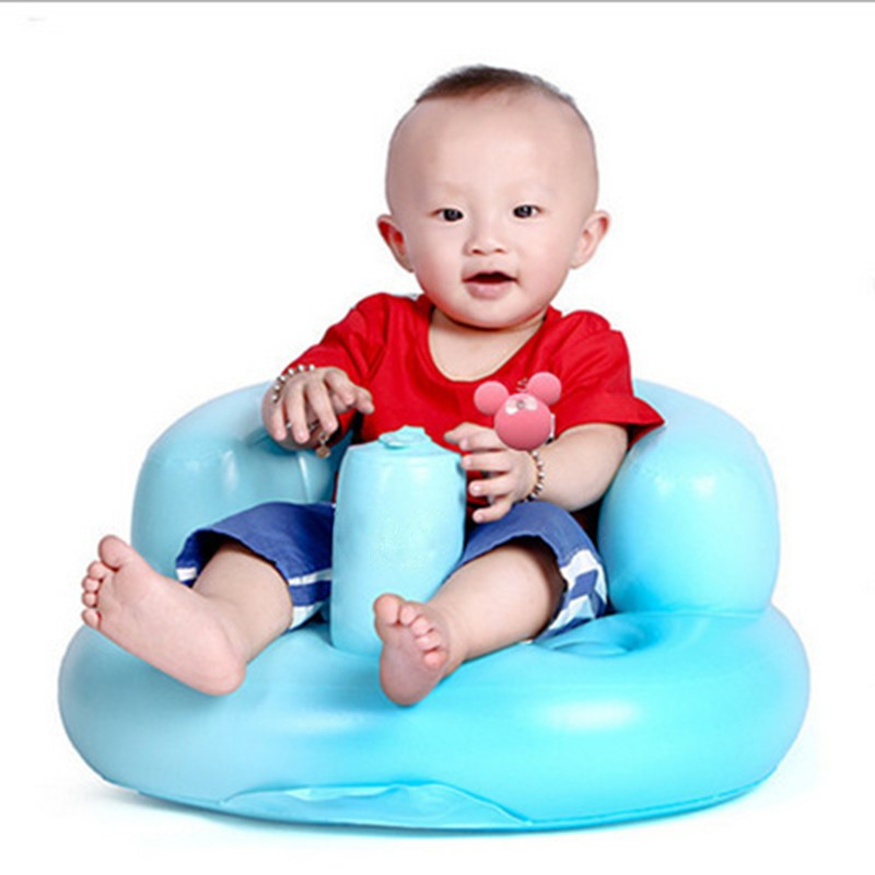 Inflatable Portable  Baby Chair Inflated Bath Room Stools Children Seat Kids Learn To Sit Play Games Bath Sofa Free Shipping (8)