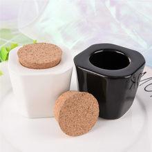 Verre acrylique en porcelaine, couleur blanc/noir, pour Nail Art, vaisselle, récipient de poudre liquide, 1 pièce/lot