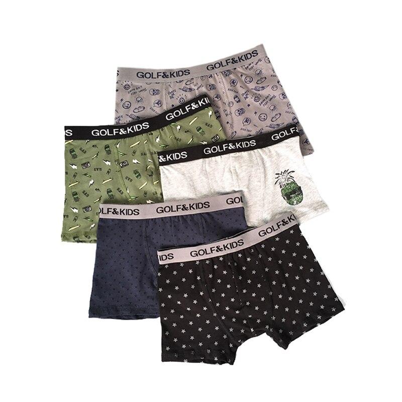 2-12years Kids Boys Cotton Boxers Children Underwear For Boys Panties