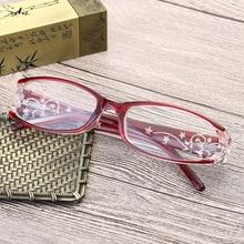 Модные Изящные женские очки для чтения красивые оптические очки для девушек очки для чтения 1,0, 1,5, 2,0, 2,5, 3,0, 3,5, красный фиолетовый