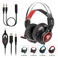 Computer Stereo Gaming Headphones USB Cable 3 5mm Best Casque Deep Bass Game Earphone Headset With