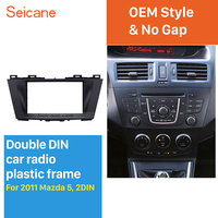 Seicane Great Double Din Car Radio Fascia for 2011+ Mazda 5 car stereo installation Dash Audio Trim Panel Kit Frame