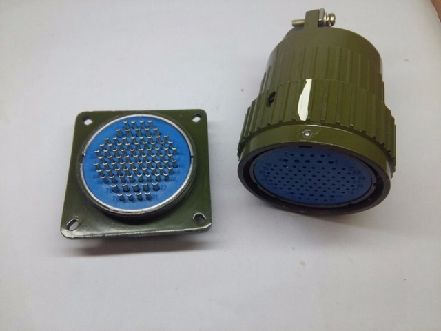 81pins 120pins Rugged Heavy Duty Multi Poles Circular Contact Push Pull Connector 50 Mm Panel
