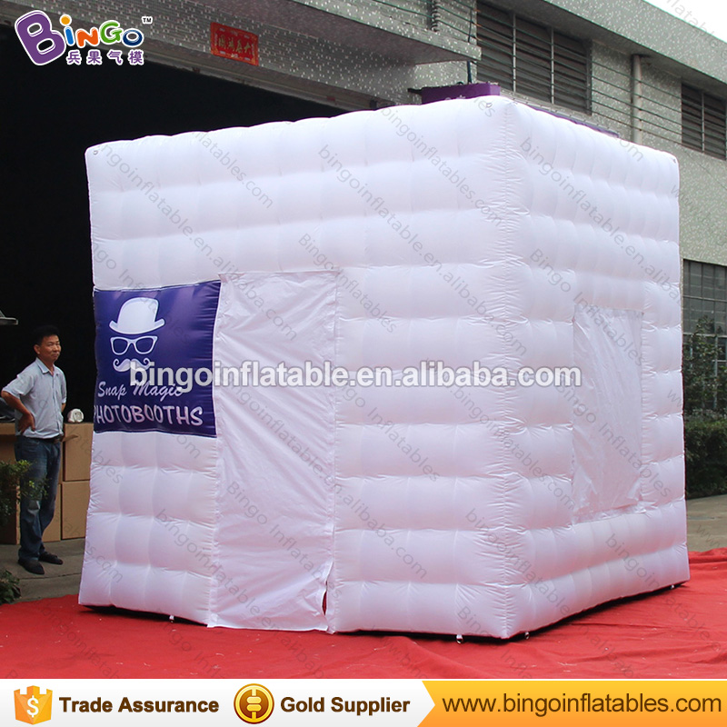 Free Delivery all white inflatable photo booth tent type 3X3X3 Meters LED lighting blow up cubic photo booth for party toy tent 4 3 2 5mh portable photo booth inflatable photo booth shell party used photo booth for sale photobooth case kiosk for event