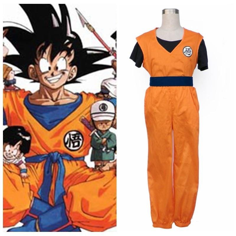2018  Dragonball Anime Son Goku Halloween Cosplay Costume