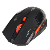 Rechargeable Wireless Mouse Slient Button Computer Gaming Performance 2400DPI Built-in Battery with Charging Cable For PC Laptop