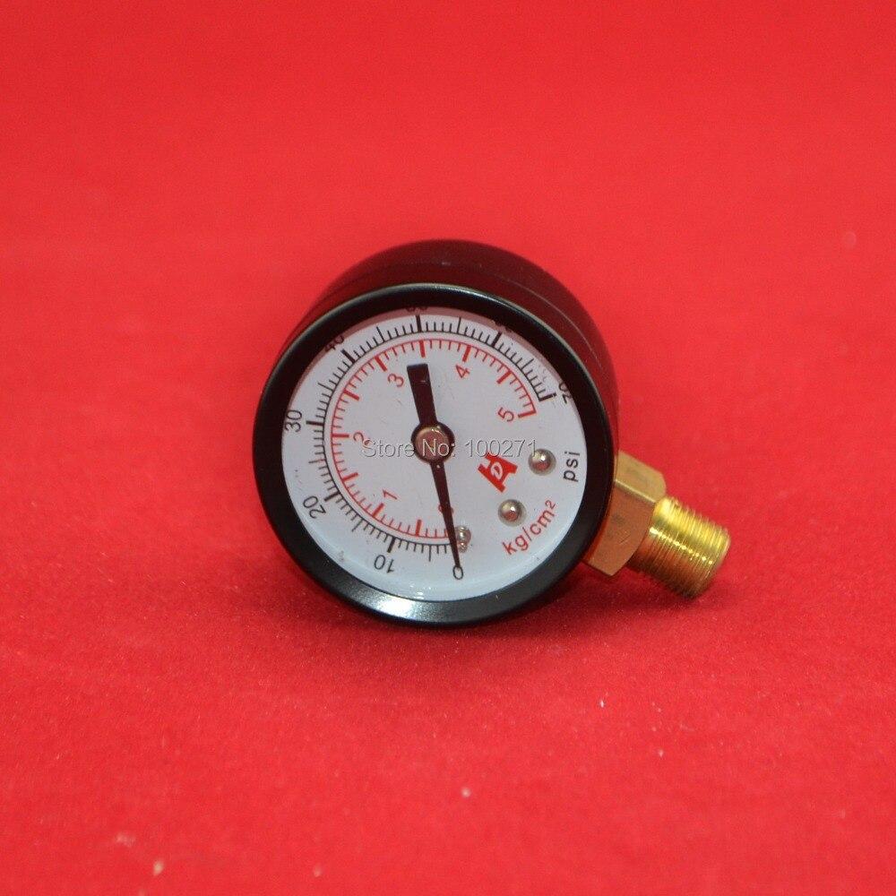 1,5 colio 40 mm 70psi manometras, 5 kg / cm2 5bar manometras, PT1 / 8 - Matavimo prietaisai - Nuotrauka 2