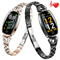 Women Girl Crystal Luxury Smart Watch Pedometer Sport SmartWatch Bracelet Heart Rate Monitor Waterproof Watches For Android iOS