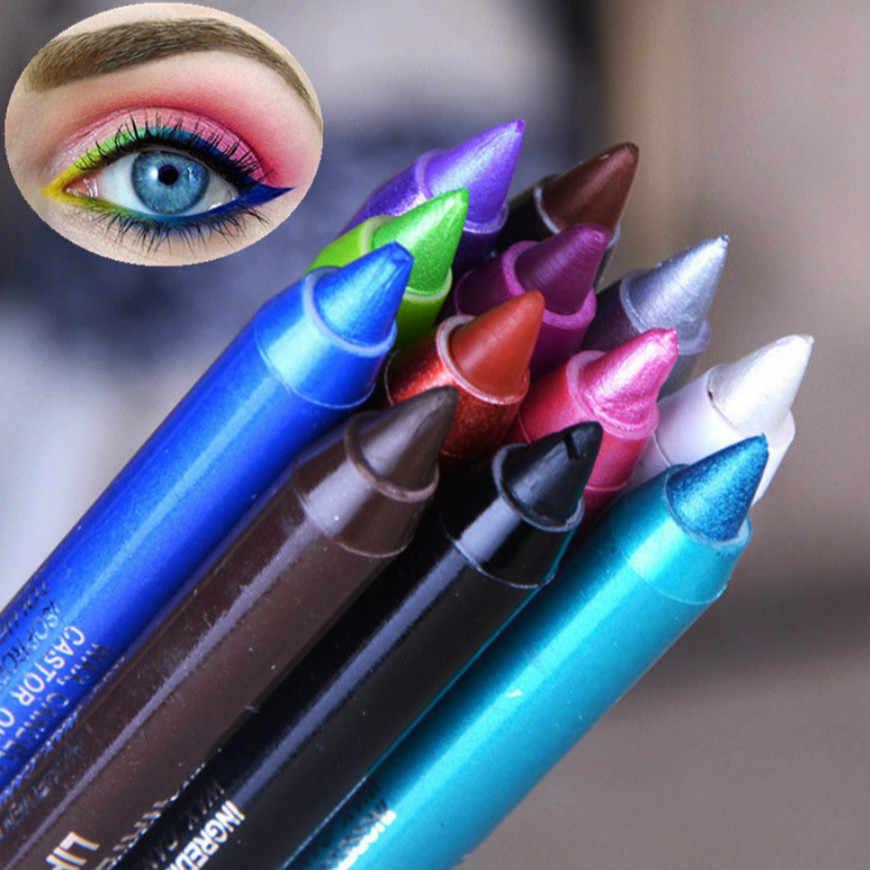 2018 HOT 1 Pcs Nero di Lunga Durata Eye Liner Matita Eyeliner Waterproof a Prova di Sbavature di Trucco Cosmetico di Bellezza Liquido 12 colori