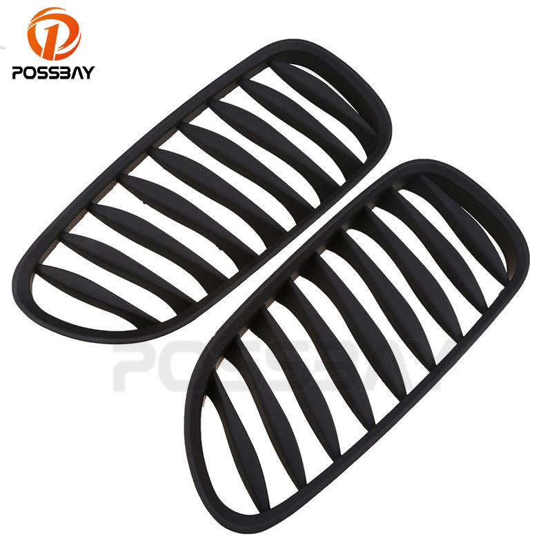 POSSBAY Fit for BMW Z4 E85 2003/2004/2005/2006/2007/2008/2009 Matte Black Front Kidney Grilles Car Accessory Styling 1pairPOSSBAY Fit for BMW Z4 E85 2003/2004/2005/2006/2007/2008/2009 Matte Black Front Kidney Grilles Car Accessory Styling 1pair