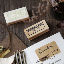 1 x vintage Country castle decoration stamp wooden rubber stamps for scrapbooking stationery DIY craft standard stamp