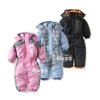 Snowsuit Toddler Boy Girl Rompers Ski Jumpsuit Outdoor Winter Warm Thicken Snow Suit Waterproof Windproof Padded