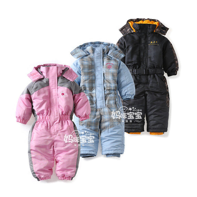 Our Poppet babies' padded waterproof snowsuit will keep them warm, comfortable and dry in the winter weather. Consisting of a jacket and salopettes, the material on both is waterproof to 5,mm with taped seams and the baby snowsuit is windproof too.