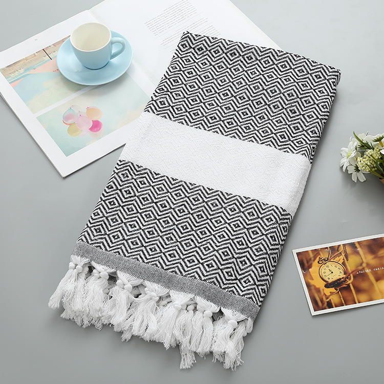 Beach Towel 2019 Plaid Turkish Cotton Bath Towels For