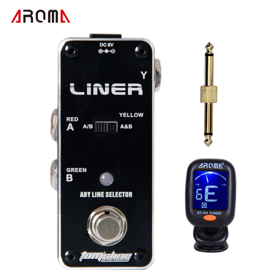 AROMA ALR-3 LINER True Bypass Clear Led Display ABY Line Selector Electric Guitar Effect Pedal+1 pc pedal connector komatsu alr 09by2 в москве