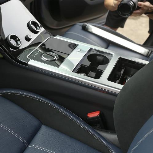 ABS хром матовый внутренний Центр панель переключения передачи рамка отделка для Land Rover Range Rover Velar 2017-2018 автомобильные аксессуары