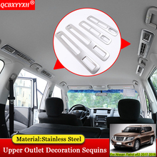 QCBXYYXH Car-styling Modification Upper Air Conditioning Outlet Decoration Sequins Accessories For Nissan Patrol y62 2017 2018