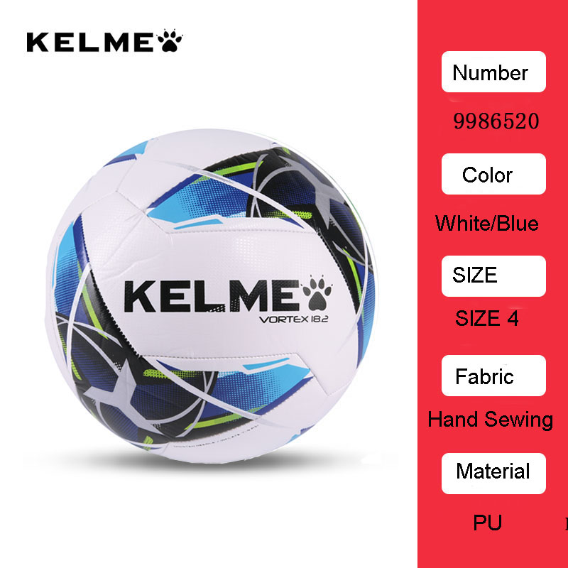 Kelme Youth Training Competition Soccer Football Ball Official Size 4 Size 5 Fustal Ball 9986520