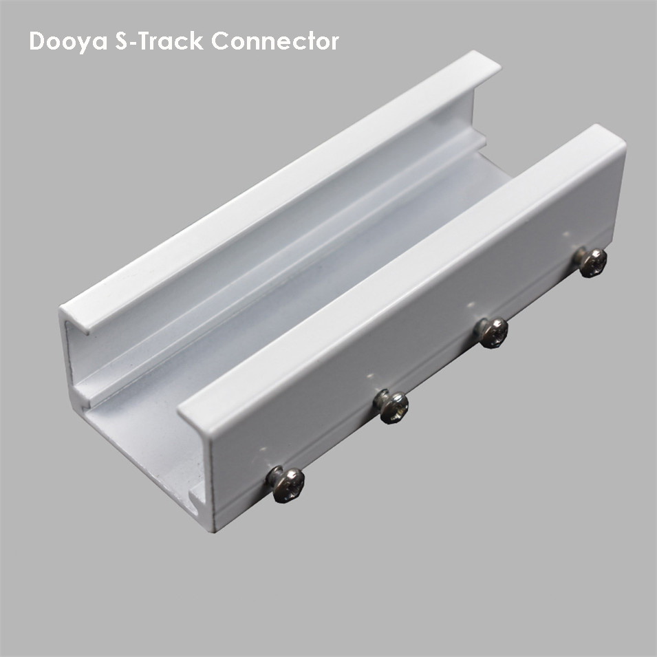 2pc Dooya-S Track Connector,Track Fit, Fold Curtain, Connect Rail,aluminum Connector,for Dooya/Xiaomi/French Shangfei Track