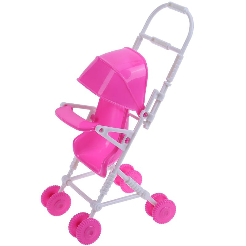 Plastic Doll Accessories Baby Stroller Carriage Trolley Nursery Furniture Toy for Barbie Doll Kids Girl Play House Role Play Toy plastic standing human skeleton life size for horror hunted house halloween decoration