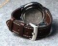 Ручной Браун 20 мм/22 мм Новый Дизайн Прочный Ремешок Для Часов Из Натуральной Кожи Высокого Качества Часы Браслет Ремешок Для Breitling