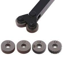 цена на 2pcs Diagonal Linear Knurl Wheels Knurling Knurler Tool 1.0/1.2/1.8/3.0mm Pitch