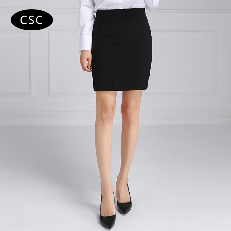 women formal suit skirt summer high waist pencil mini