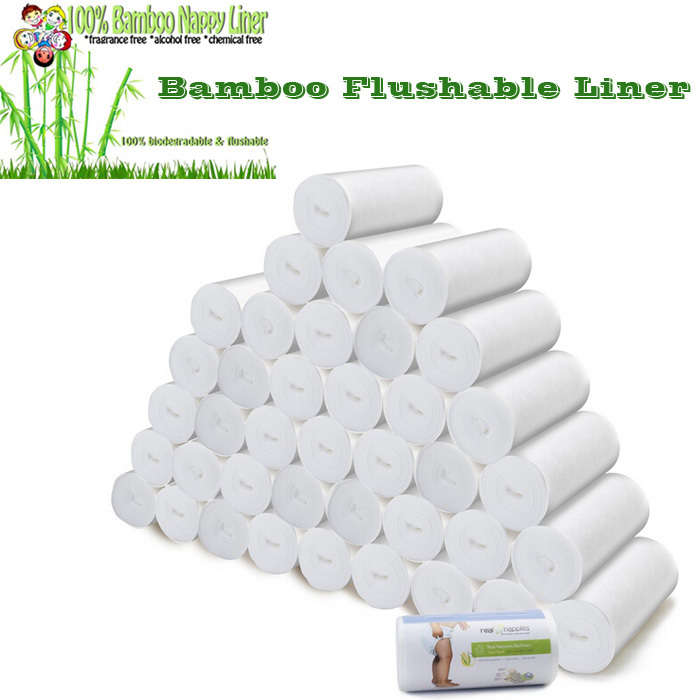 Baby Reusable Nappies Liner, Disposable Nappy Flushable Liner And Biodegradable Bamboo Liners For Diapers,100 Sheets