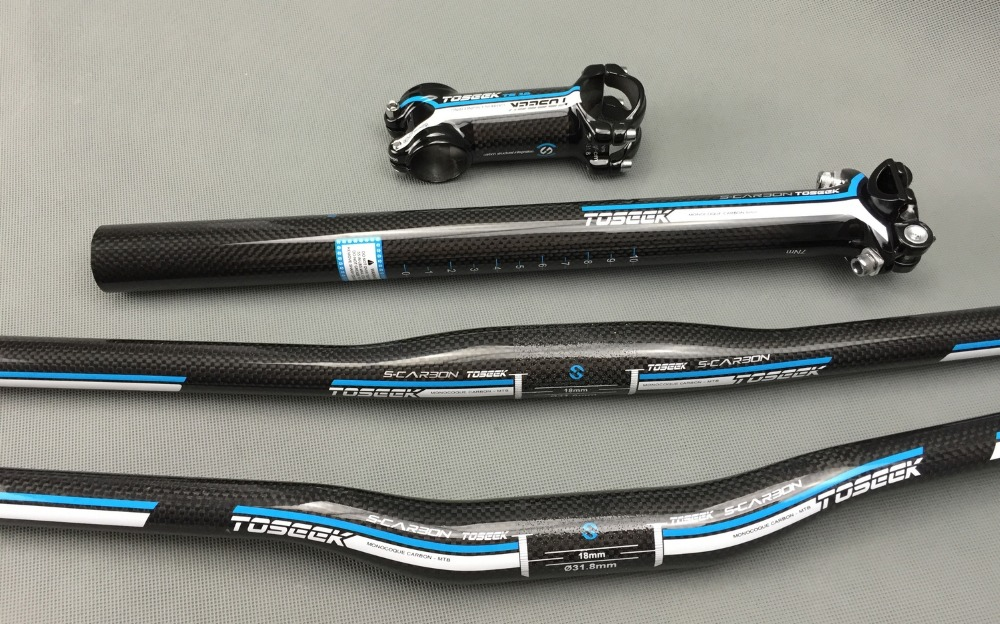 синій супер світло TOSEEK повний карбон - Велоспорт - фото 4