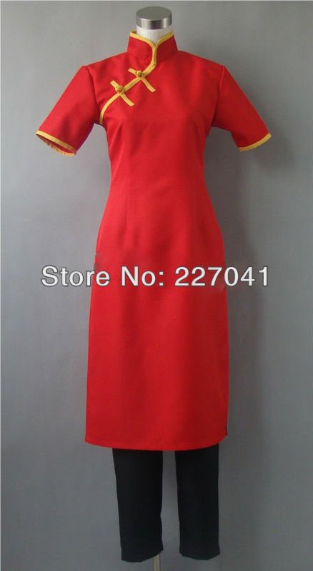 Gintama  Kagura Cheongsam Cosplay Costume Halloween Cloth