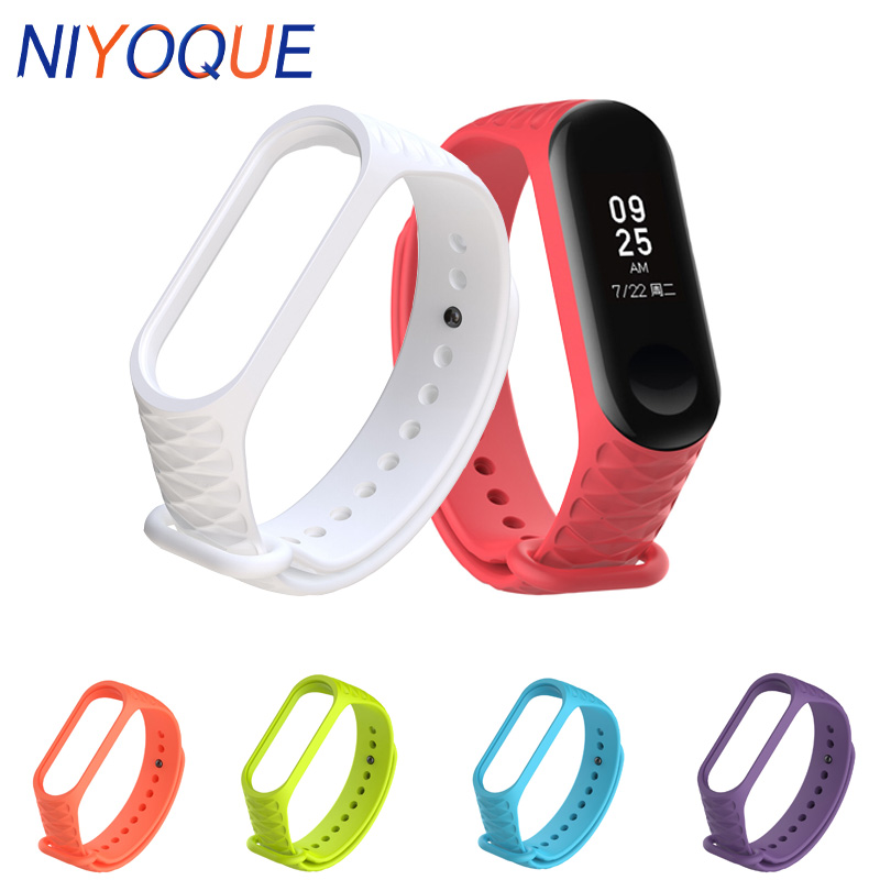 Strap For Xiaomi Mi Band 3 Smart Band Accessories For Xiaomi Miband 3 Smart Wristband Strap Spot goods Of Mi Band 3 Strap xiaomi mi band 3 strap черный