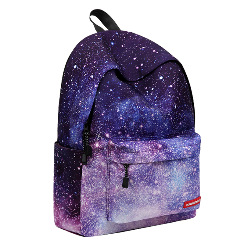 RUNNNINGTIGER sets school bags for girls canvas school backpack with Pencil case Starry sky schoolbag backpack kids unicorn bag