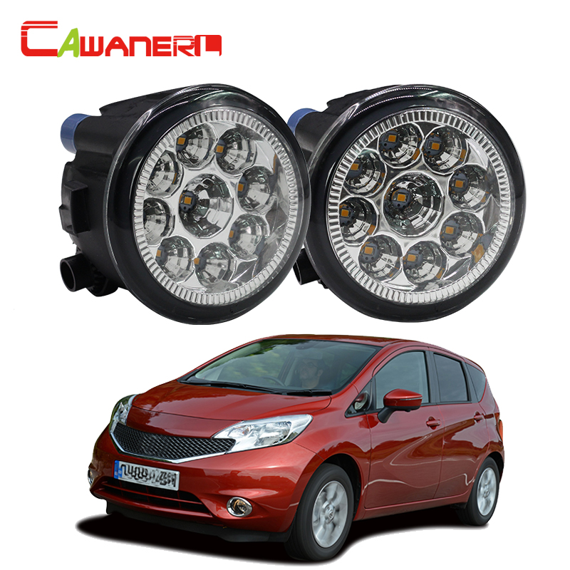 Cawanerl 1 Pair Car Left + Right Fog Light LED Light Daytime Running Light White Blue Orange For Nissan Note (E11) MPV 2006- cawanerl 2 x car led fog light drl daytime running lamp accessories for nissan note e11 mpv 2006