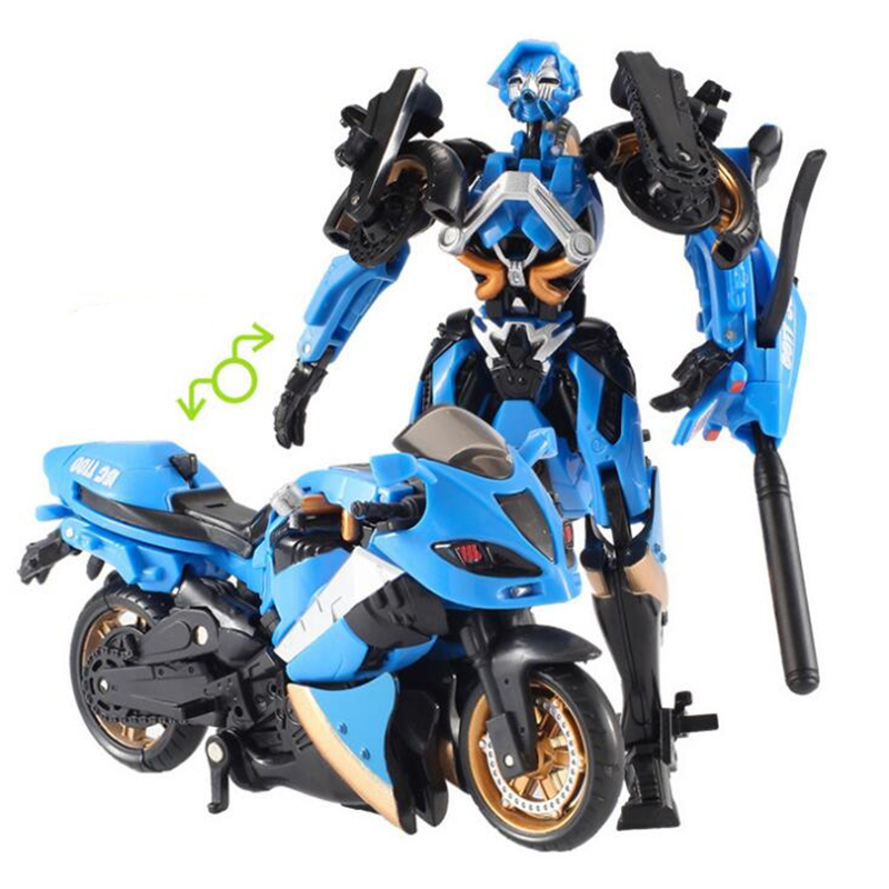 14cm Motorcycle Model West Carroll Car Robot Action Toys Deformed motorcycle robot Anime Action Figure Plastic Toys image