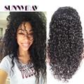 Estoque sunnymay cabelo 8a + grau de remy do indiano do cabelo humano cap glueless encaracolado perucas cheias do laço/peruca dianteira do laço perucas do laço do cabelo