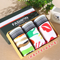 Gift box set cartoon underwear men male panties sexy full men's trunk low-waist  similar cotton panties male