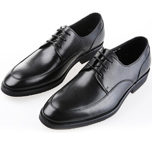Black flats mens business shoes genuine leather wedding shoes formal mens dress shoes free shipping