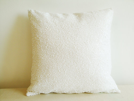 Popular white sequin pillow buy cheap white sequin pillow for Buy pillows online cheap