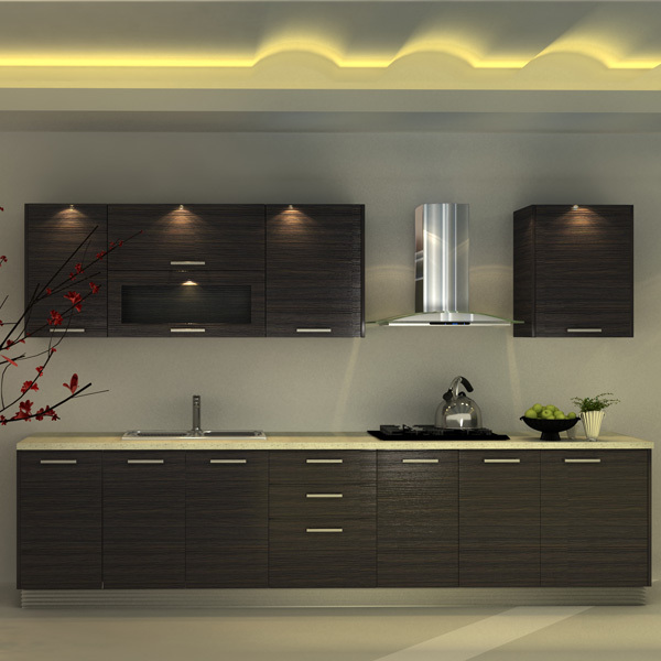 Modern Kitchen Shelf Design: Wholesale Commercial Melamine Modern Kitchen Cabinet