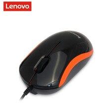 Orijinal Mini Lenovo M100 Kablolu Optik Fare Mini fare usb fare fare gamer Laptop için Windows7 8 10