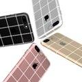 Прозрачный ТПУ Случай Для iPhone 7 Plus Для iPhone 7 кристалл Блеск Сетка Мягкий Силиконовый Для iphone 7 Plus Крышка Аксессуары