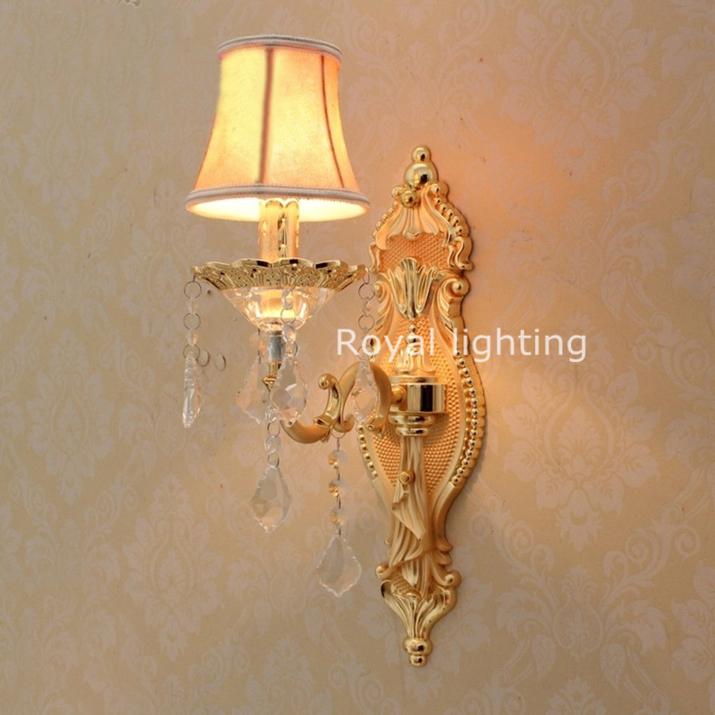 Modern Fabric Wall Lights : Free shipping wall Sconce Wholesale price led wall lights with fabric shade modern Wall lamps ...