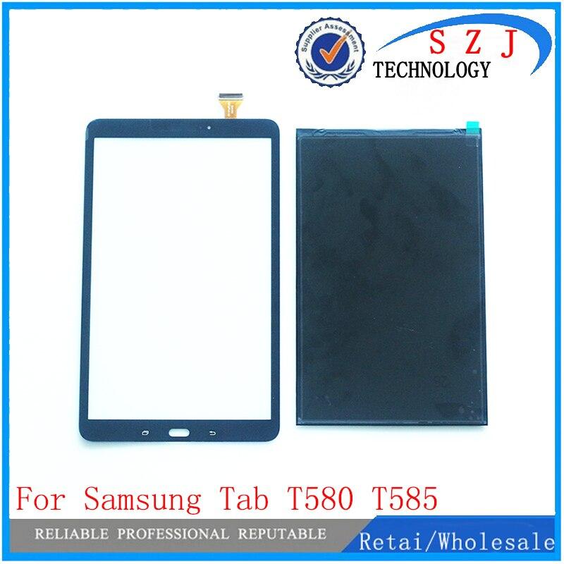 New 10.1 For Samsung Galaxy Tab A 10.1 T580 T585 SM-T580 SM-T585 LCD Display Matrix Touch Screen Digitizer Sensor Parts black 10 1 for samsung galaxy tab pro 10 1 t520 t525 sm t520 touch screen digitizer sensor tablet pc repairment parts