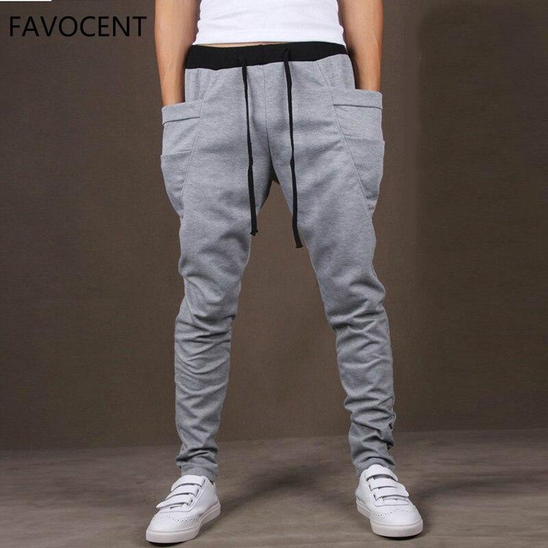 Men Pants Outwear Men's Trousers Big-Pocket Quality Fashion Casual Hip-Hop Soft