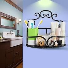 Товары для дома хранения стеллажей кованого железа настенные ванная комната шельфа